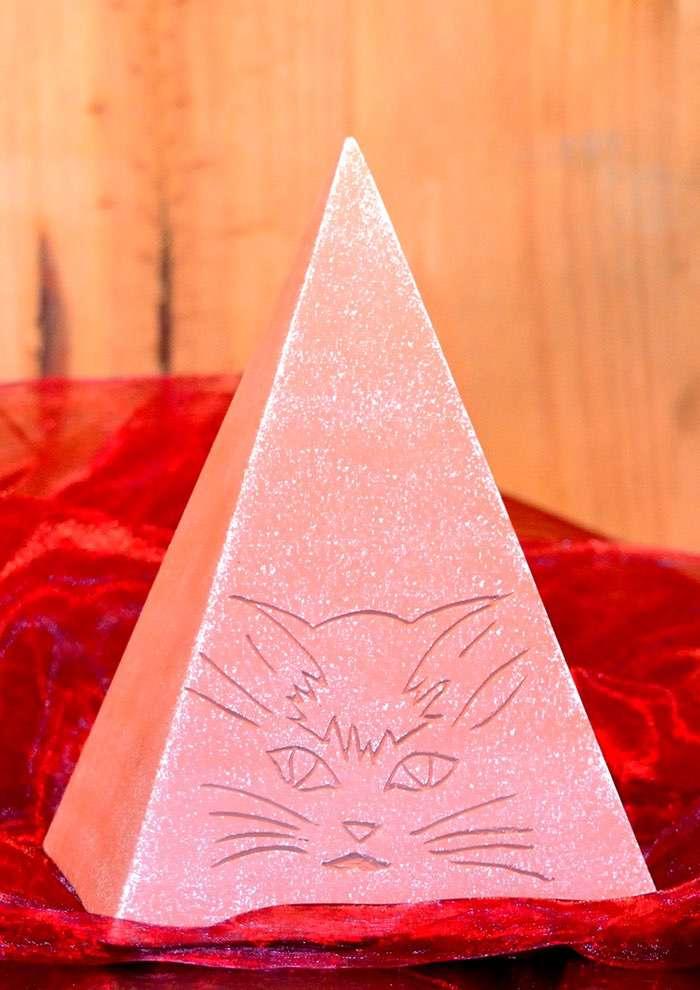 """Pyramide """"Katze"""" • ca. 0,6l - 50,00 €, 1,7l - 60,00 € (inkl. MwSt.). Unterschiedliche Farbgestaltung in Acryl möglich."""