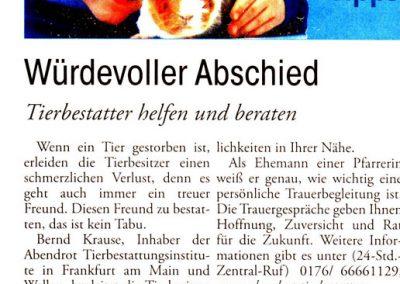 Usinger Anzeiger 22. Januar 2011