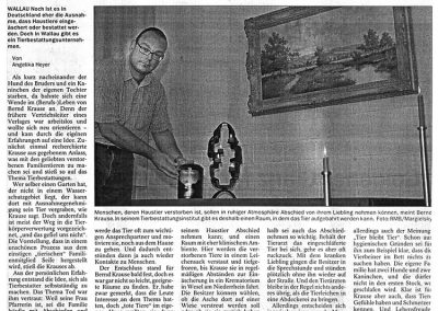 Wiesbadener Kurier, 13. August 2007, Nr. 186
